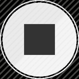 media, music, online, stop icon