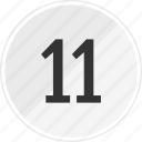 eleven, media, music, number, track icon