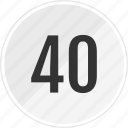 fourty, media, music, number, track icon