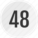 eight, fourty, media, music, number, track icon