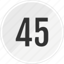 five, fourty, media, music, number, track icon