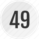 fourty, media, music, nine, number, track icon