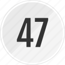 fourty, media, music, number, seven, track icon
