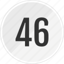 fourty, media, music, number, six, track icon