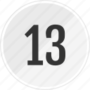 media, music, number, thirteen, track icon