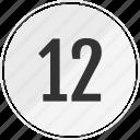 media, music, number, track, twelve icon