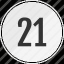media, music, number, one, track, twenty icon