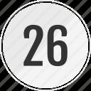 media, music, number, six, track, twenty icon