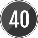 fourty, music, number, track icon
