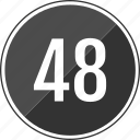 eight, fourty, music, number, track icon