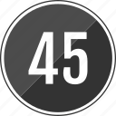 five, fourty, music, number, track icon