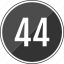 four, fourty, music, number, track icon