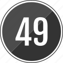 fourty, music, nine, number, track icon