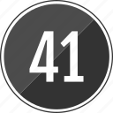fourty, music, number, one, track icon