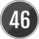 fourty, music, number, six, track icon