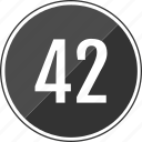 fourty, music, number, track, two icon