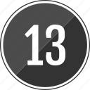 music, number, thirteen, track icon