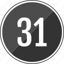 music, number, one, thirty, track icon