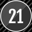 music, number, one, track, twenty icon