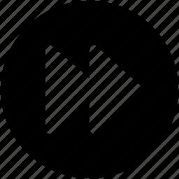 forward arrow, forward button, multimedia button, music player, next track icon