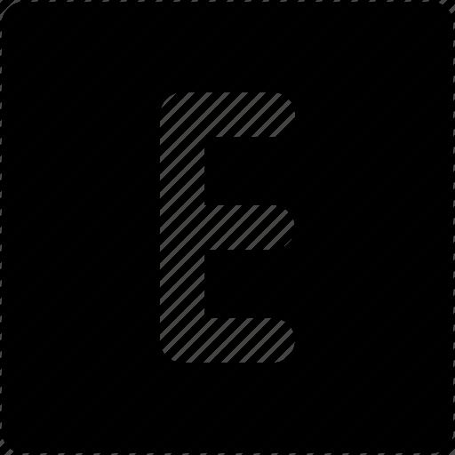 alphabet, e, e sign, english, internet icon