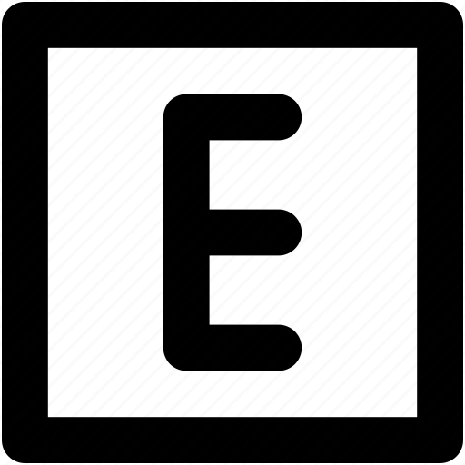 alphabet, e, e sign, english, internet icon