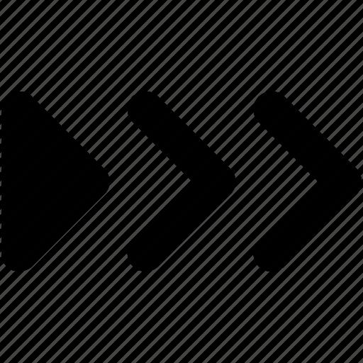 button, fast forward, forward, forward arrow, media button icon