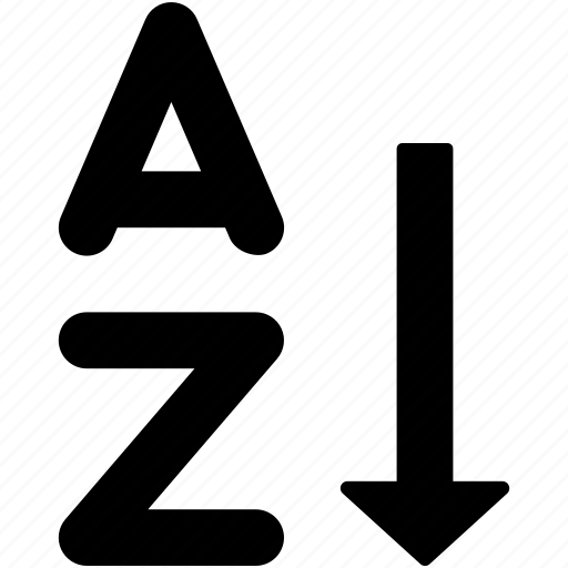 a to z, alphabetical, alphabetically, complete, sorting icon