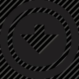 down, music, player, volume icon