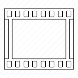 film, frame, line, outline, photo, slide, strip icon