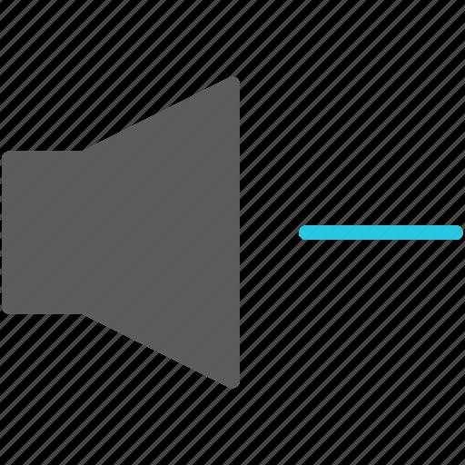 audio, decrease, loud, multimedia, sound, speaker, volume icon