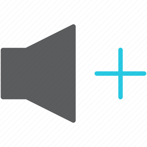 audio, increase, loud, multimedia, sound, speaker, volume icon