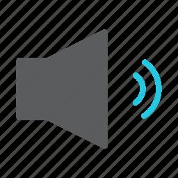 audio, loud, medium, multimedia, sound, speaker, volume icon
