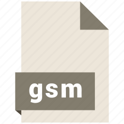 audio file format, audio file formats, file format, file formats, gsm icon