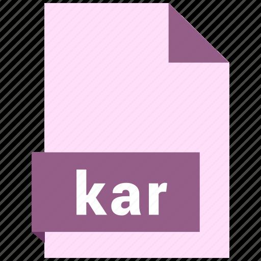 audio file format, audio file formats, file format, file formats, kar icon