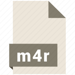 audio file format, audio file formats, file format, file formats, m4r icon
