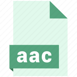 aac, audio file format, audio file formats, file format, file formats icon