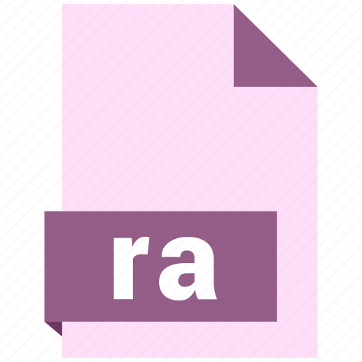 audio file format, audio file formats, file format, file formats, ra icon