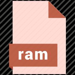 audio file format, audio file formats, file format, file formats, ram icon
