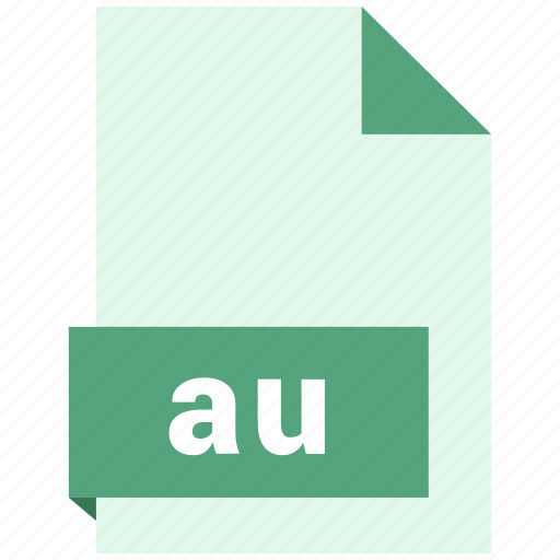 au, audio file format, audio file formats, file format, file formats icon