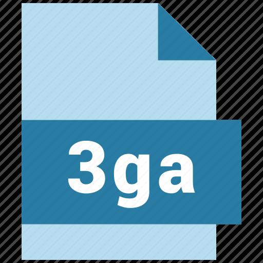 3ga, audio file format, document, file icon