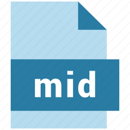 audio file format, file, format, mid icon