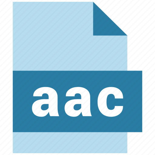 aac, audio file format, extension, file, file format icon