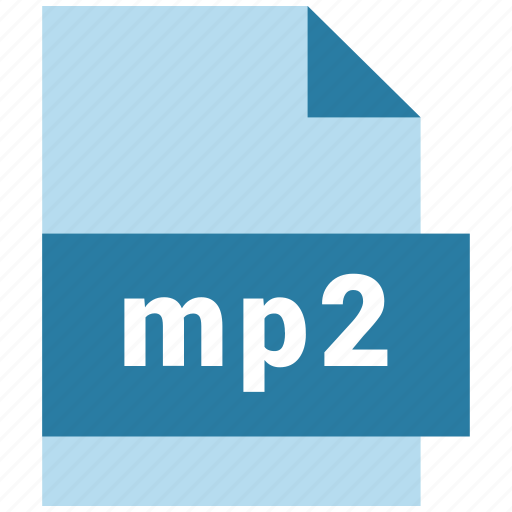 audio file format, extension, file, filetype, format, mp2 icon
