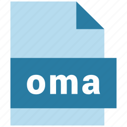 audio, audio file format, extension, file, format, hovytech, oma icon