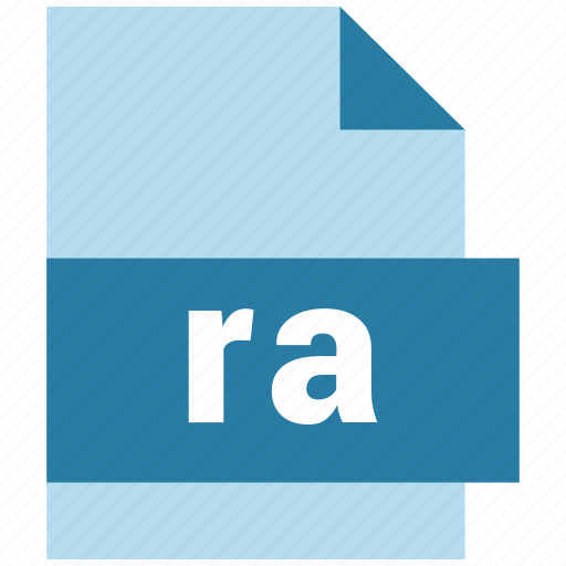 audio file format, document, extension, file, ra icon