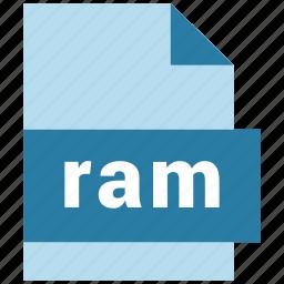 audio file format, document, ram icon