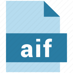 aif, audio file format, extension, file format icon