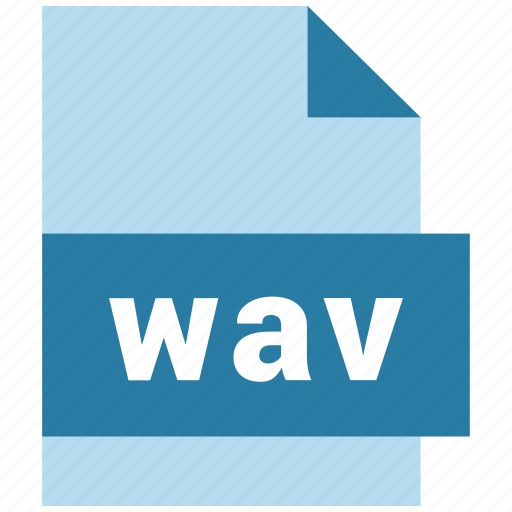 audio file format, extension, file, wav icon