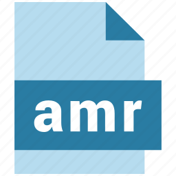 amr, audio file format, document, extension, file, format icon